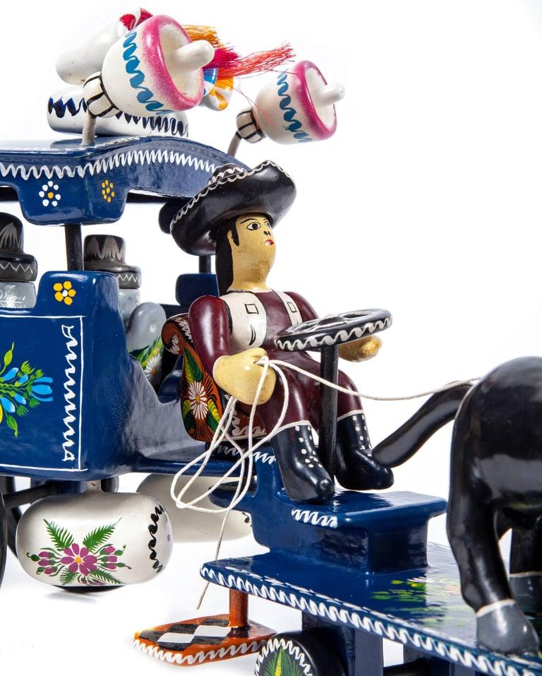 FREE SHIPPING TO WORLDWIDE!  Artisan: Juan Zeferino Rivera & Emilia Guadalupe Acevedo Chavez  FONART 1st. Place Category Toys  FONART XLI Edition National Award