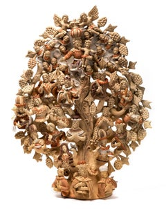 Arbol Dominico / Ceramics Mexican Folk Art Clay Tree of Life