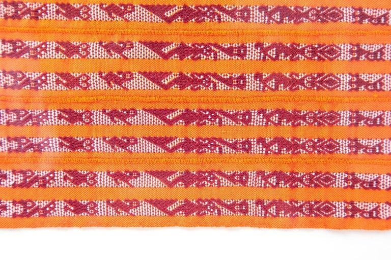Tapete Miniatura Naranja y Rojo / Textiles Mexican Folk Art Miniature Rug Frame For Sale 2