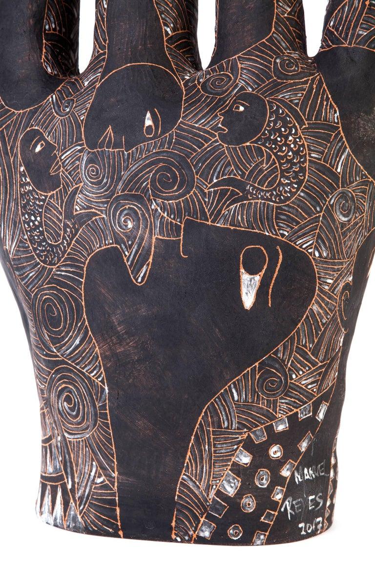 12'' La Mano de Yanhuitlan / Ceramics Mexican Folk Art Clay For Sale 1