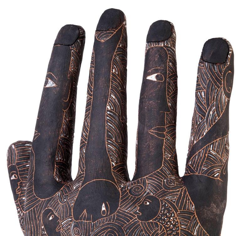 12'' La Mano de Yanhuitlan / Ceramics Mexican Folk Art Clay For Sale 2