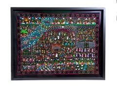 Tzintzuntzan / Textiles Mexican Folk Art Embroidery Frame