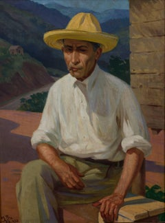 Man of the Mountain - Impressionist Puerto Rican Art