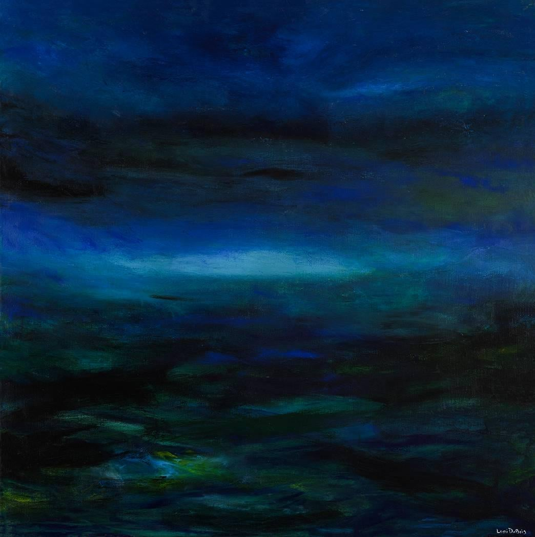 Northern Lights by Lori Dubois, Abstract Expressionism Acrylic Painting