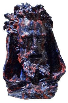 "Livio Scarpella ""Arnaldo da Brescia"" Ceramic Contemporary Art Sculpture"