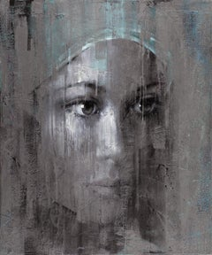 "Pier Toffoletti ""Metal Face"" Mixed Media on Canvas Contemporary Art Painting"