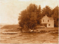 Study for Yellow House on Lake Champlain