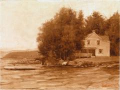 Study for Yellow House on Lake Champlain