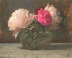 Peonies in a Glass Bowl I