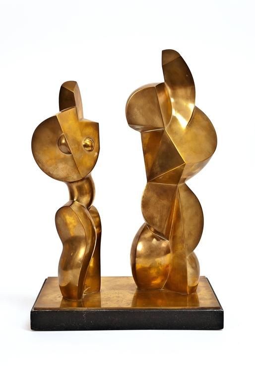Jim Ritchie Figurative Sculpture - Cubist Couple