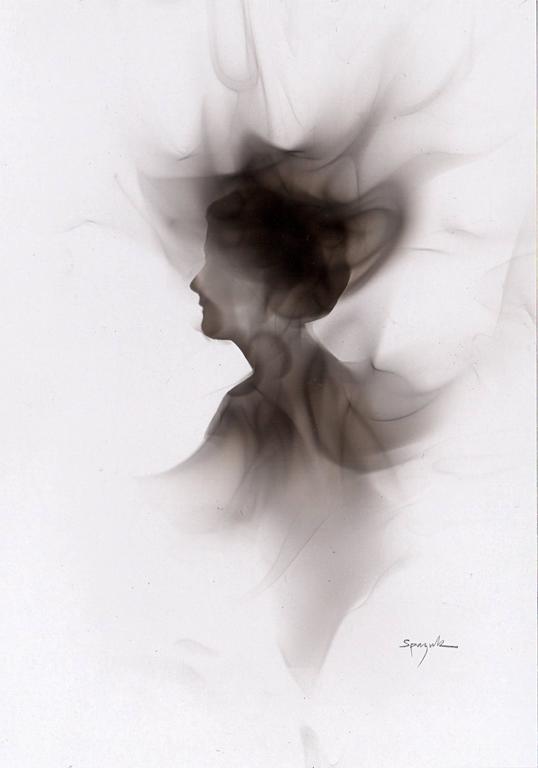 Steven Spazuk Figurative Painting - Smoky Head