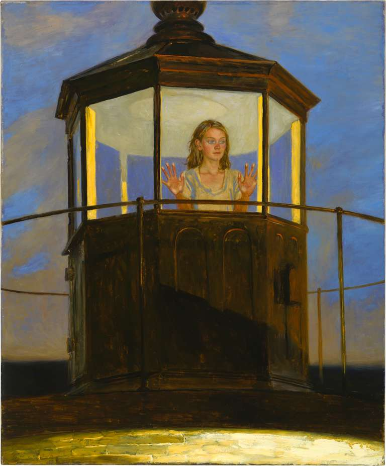 Jamie Wyeth Sunset Southern Island Painting At 1stdibs