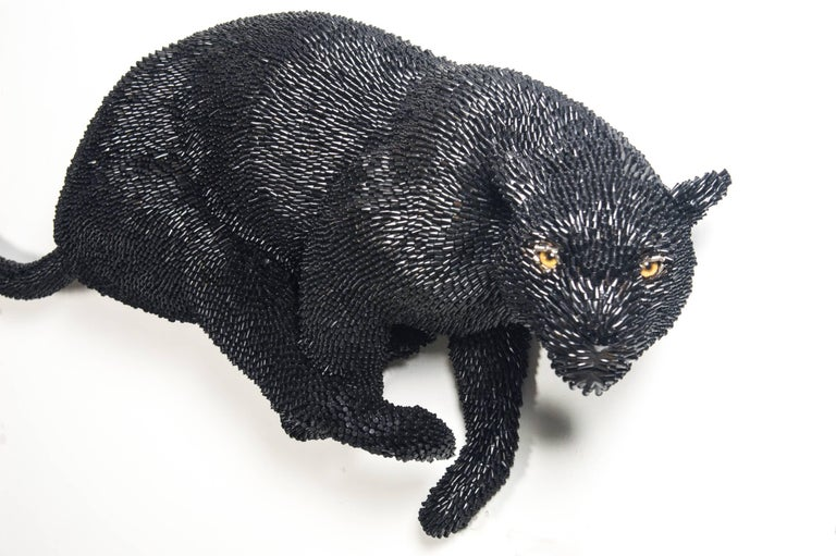 Black Panther - Contemporary Mixed Media Art by Federico Uribe
