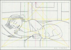 Drawing for Sleeping Woman with Dog