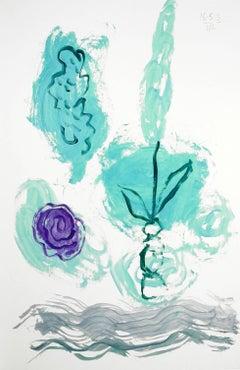 Les Fleurs: Turquoise