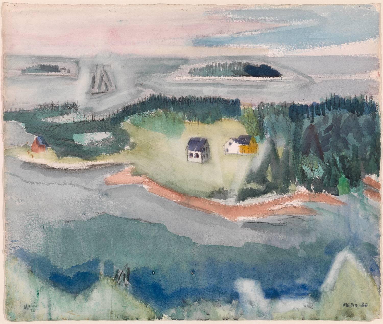 John Marin Mark And Andrews Island From Deer Isle Maine