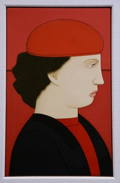 Woman Wearing a Red Hat