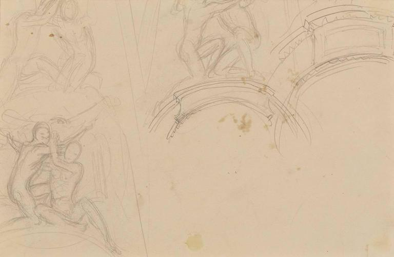 Garland Studies I - Beige Interior Art by John Singer Sargent