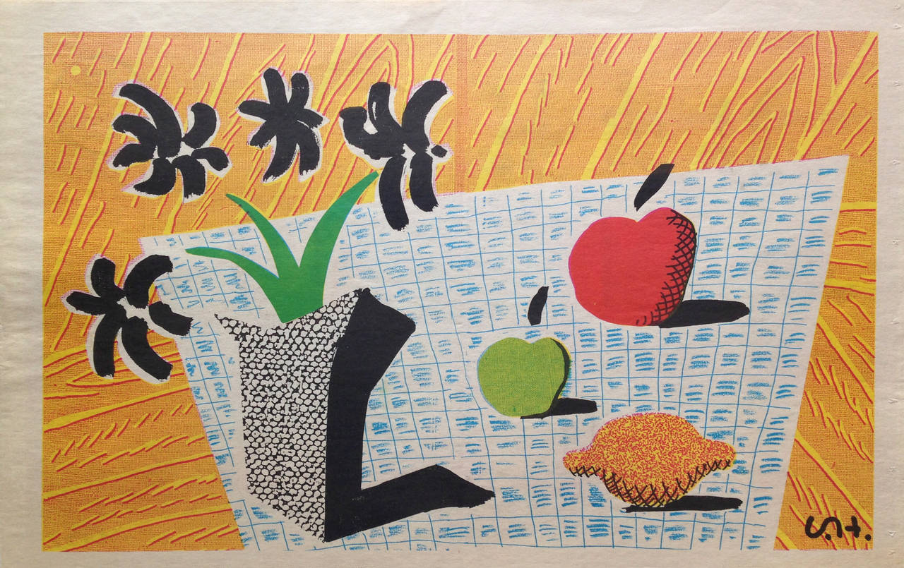 David Hockney Still Life Drawings David Hockney Two Apples