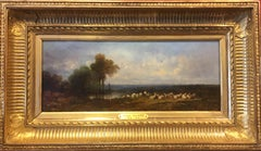 Barbizon landscape with sheeps