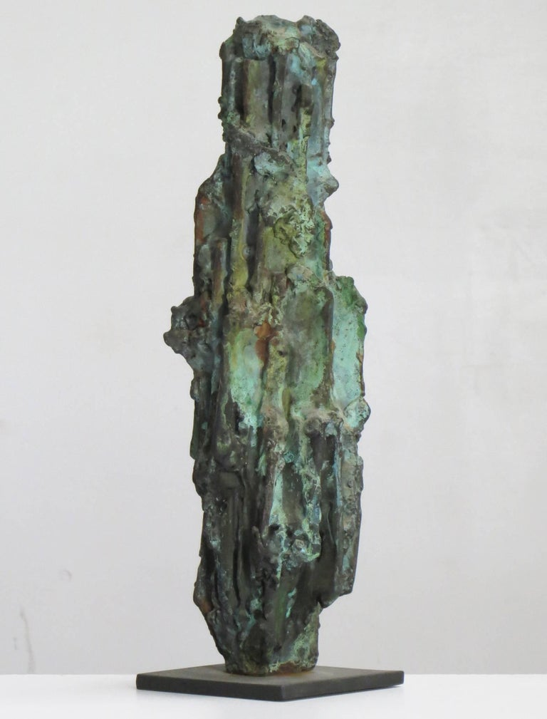 Old Man - Gold Abstract Sculpture by Howard Kalish