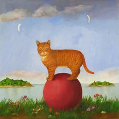 Cat With Two Moons