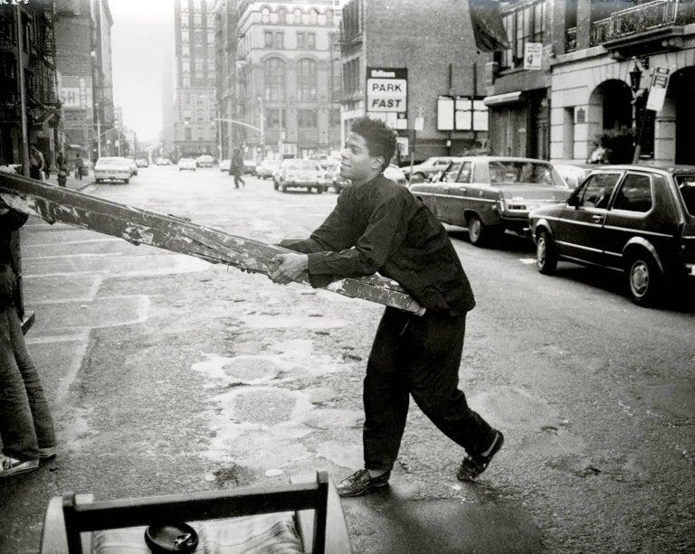 Jean-Michel Basquiat with Ladder