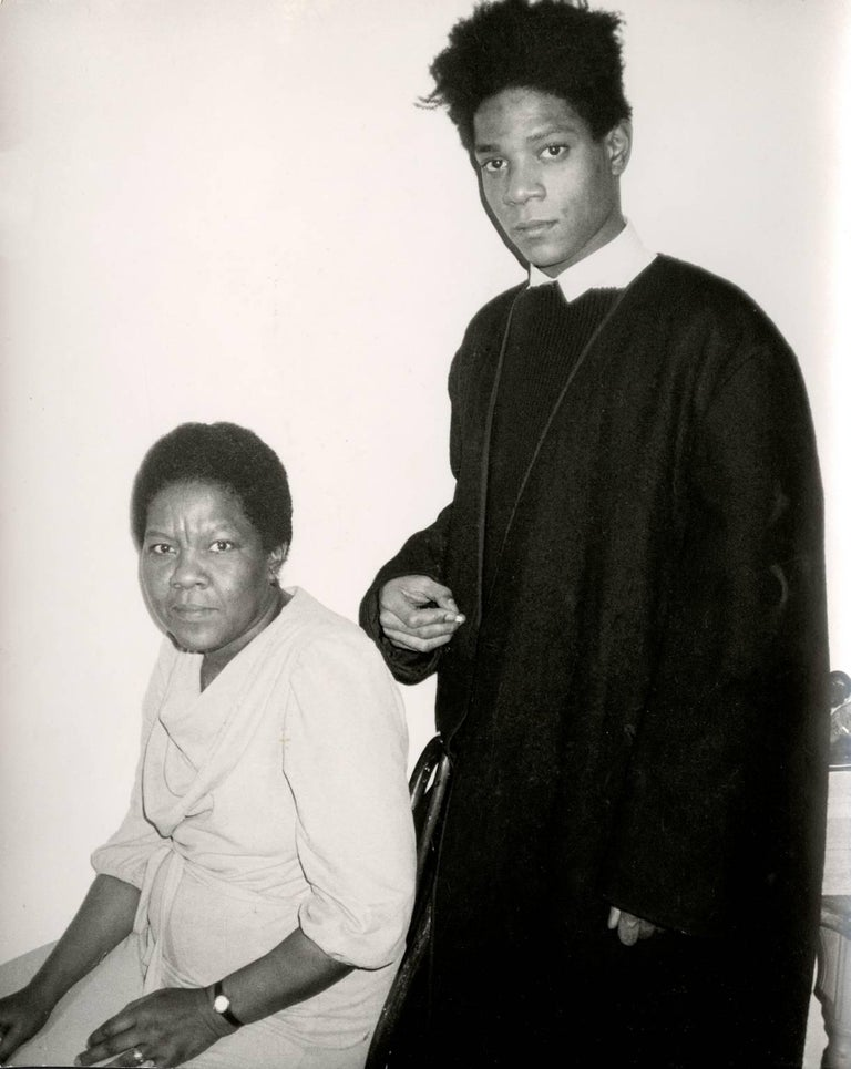 Jean-Michel Basquiat and His Mother