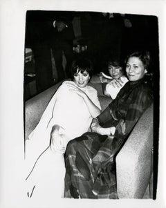 Andy Warhol, Photograph of Liza Minelli, Elizabeth Taylor and Faye Dunaway, 1985