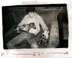 Lou Reed (of The Velvet Underground) with Dachshunds