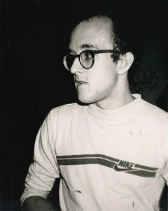 Andy Warhol, Photograph of Keith Haring, 1986