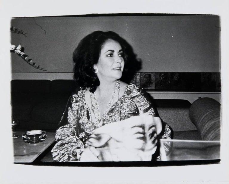 Andy Warhol, Photograph of Elizabeth Taylor, 1981 - Black Black and White Photograph by Andy Warhol