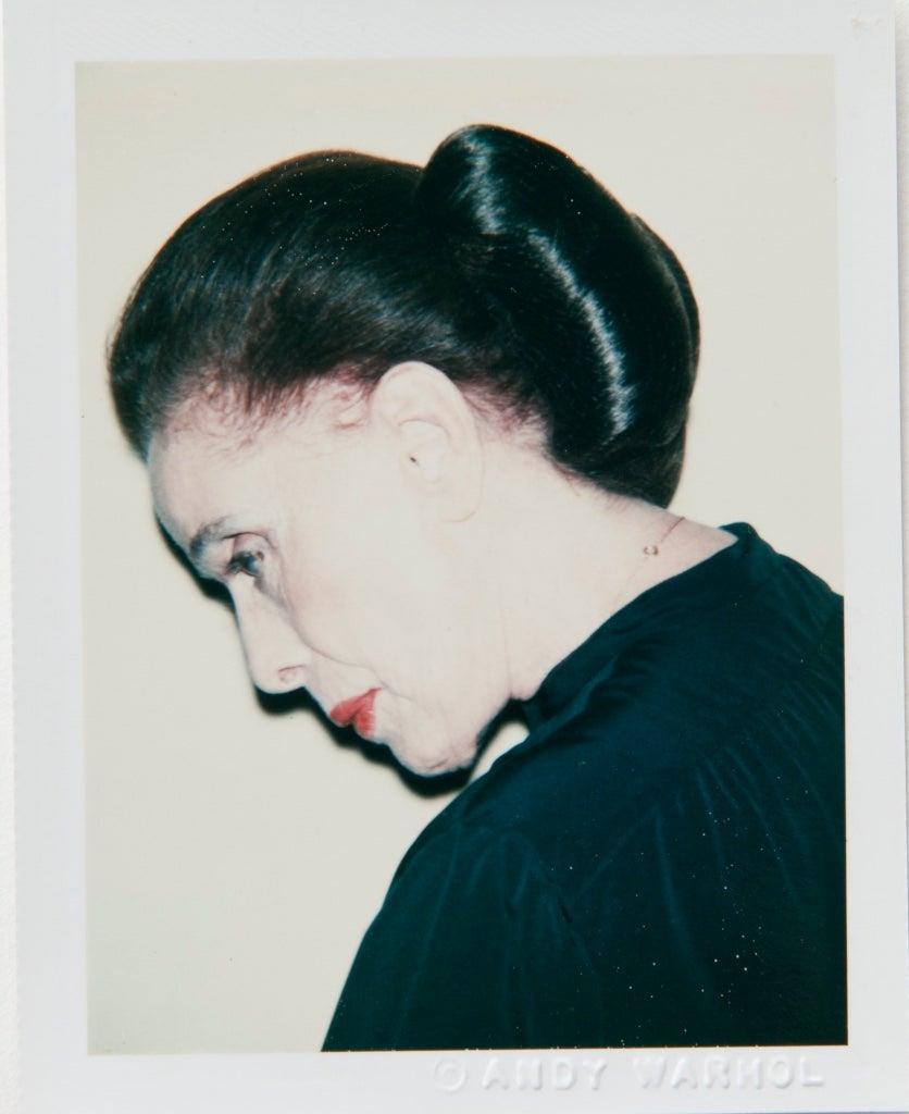 Polaroid Photograph of Martha Graham
