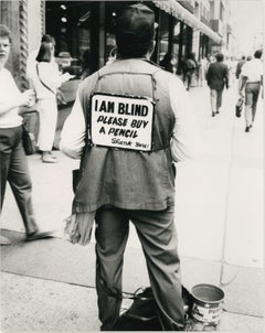 Andy Warhol, Photograph of a Blind Man (I AM BLIND), 1980