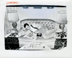 Andy Warhol, Photograph of Fred Hughes Reclining on a Sofa, 1986