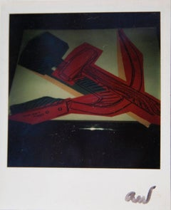 Andy Warhol, Polaroid Photograph of a Hammer & Sickle Lithograph Print, 1977