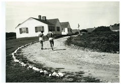 Andy Warhol Photograph of Montauk Estate with Two Unidentified Men circa 1975