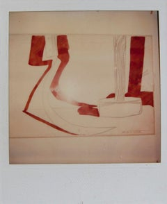 Andy Warhol, Red Hammer & Sickle Study, Polaroid Photograph, 1977