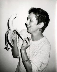 Andy Warhol, Photograph of Pat Hackett Peeling a Banana, circa 1986