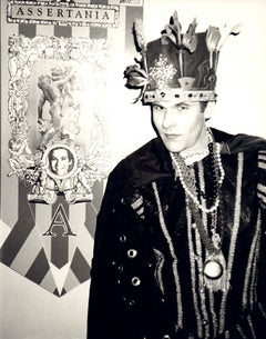 "Andy Warhol, Photograph of R. Couri Hay as the king of ""Assertania,"" 1986"