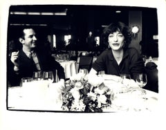 Andy Warhol, Photograph of Fred Hughes and Loulou de la Falaise circa 1983
