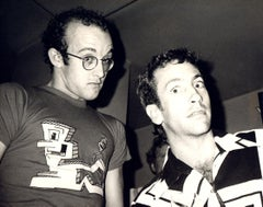 Andy Warhol, Photograph of Keith Haring and Kenny Scharf circa 1986