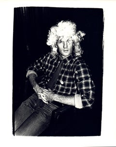Andy Warhol, Photograph of Thomas Ammann Wearing a Wig circa 1980