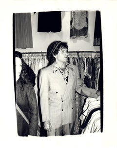 Andy Warhol, Photograph of Robin Williams in a Thrift Store circa 1980
