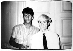 Andy Warhol, Photograph with a Male Model circa 1985