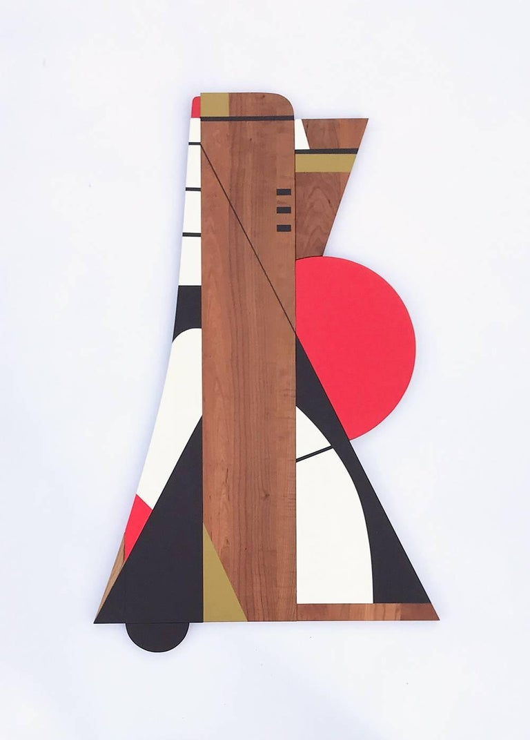 """""""Instant Crush"""" commands the room. It is impossible to ignore due to the interesting lines and bold color palette. It has a mid-century modern and Art Deco feel to it. This artwork can feel equally at home in a 50's MCM bungalow as it would in a"""