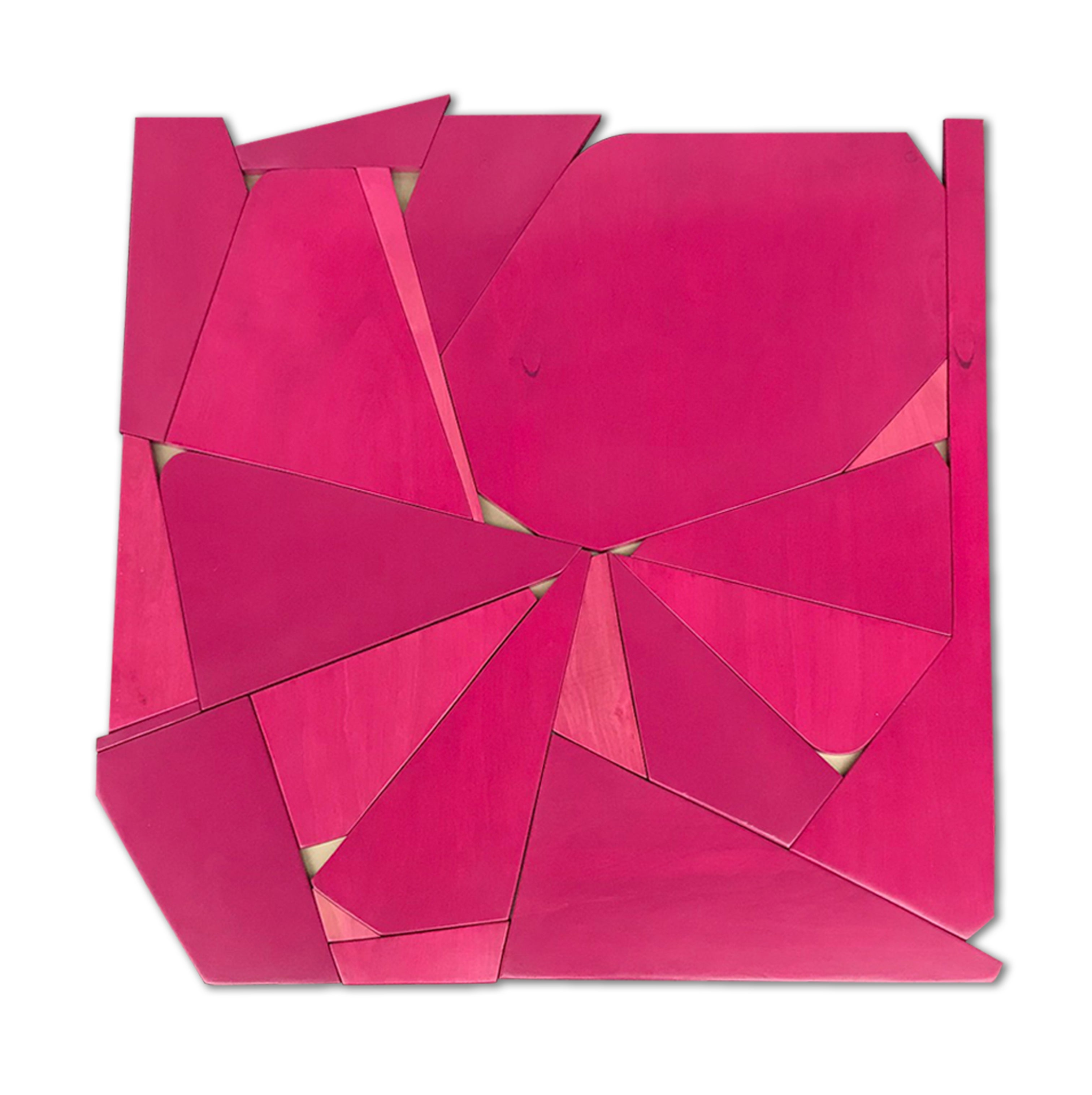 Pinwheel (mangenta modern abstract wall sculpture minimal geometric design pink)