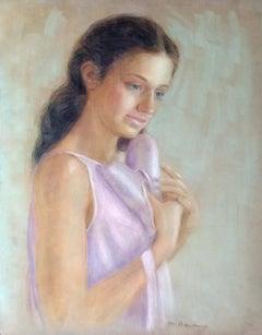 Ballerina; Monique Baudaux; Late 20th; pastel on paper;
