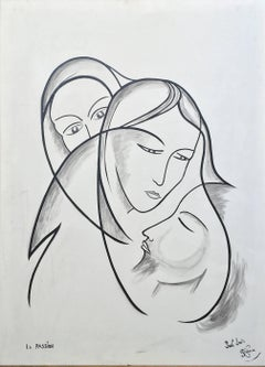 La Passion; Paul - Louis Rebora; French 20th c; oil on canvas