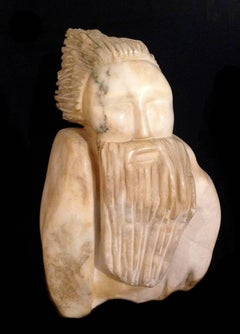 Man With Beard; Marcus Lyons (American 1949); marble
